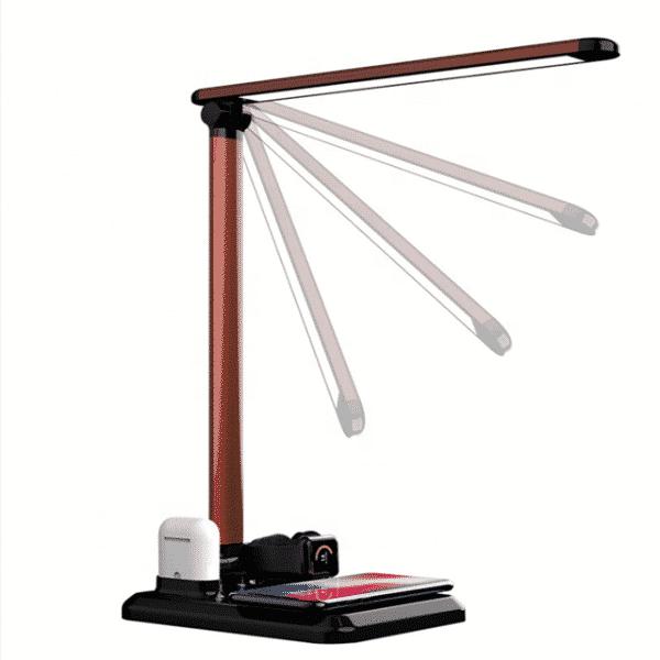 lampe de bureau avec chargement sans fil