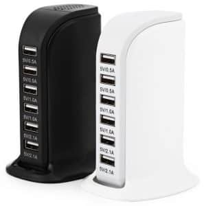 6 Multi USB Ports Portable Charger Station