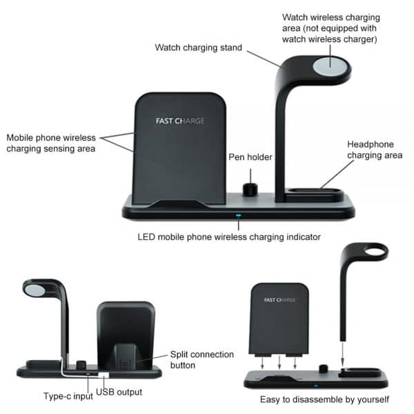 Watch, Mobile and Headphone charging stand dock