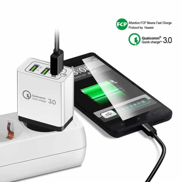 3.0 USB wall charger travel charger with one fast charger port