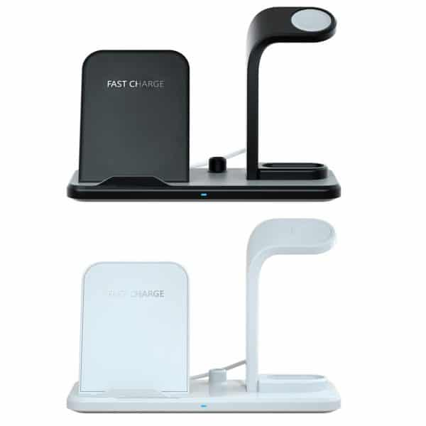 Fast charging stand dock for mobile and airpods