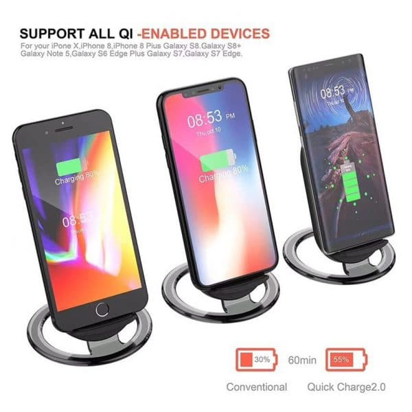 Wireless charger for QI enable devices