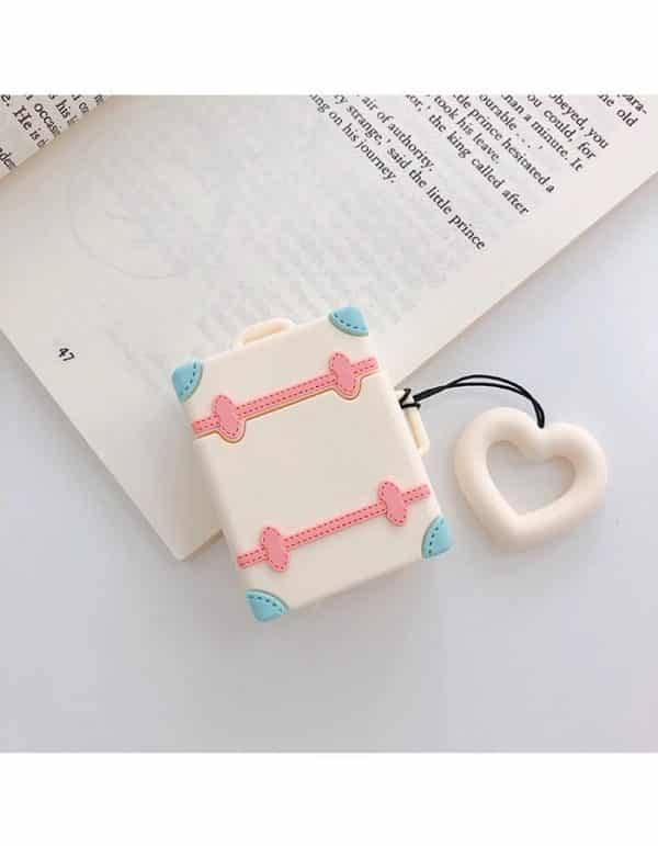 Cute 3D Design Soft 3D Silicone Air pods Cover protection white