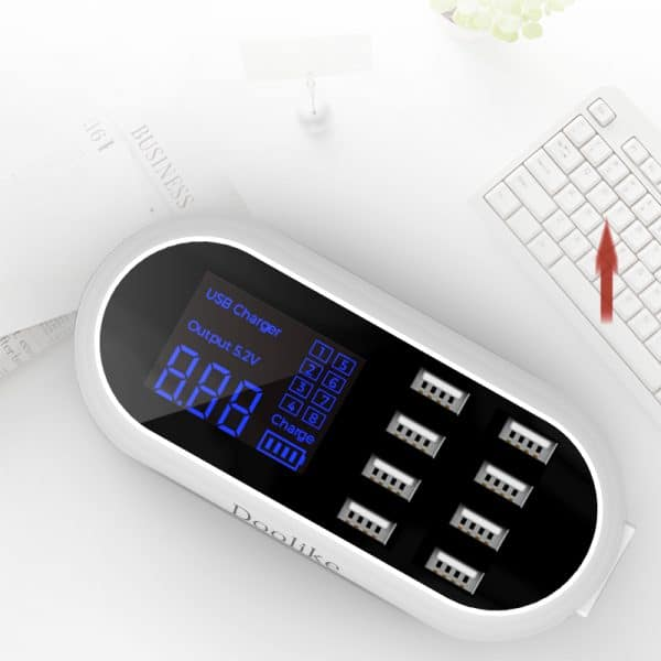 wall charger with LCD display