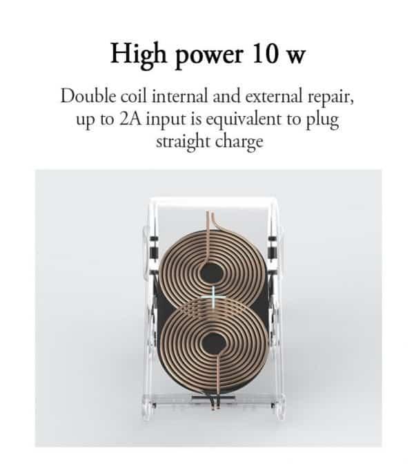Chargeur rapide sans fil et support téléphone style éléphant Haute puissance