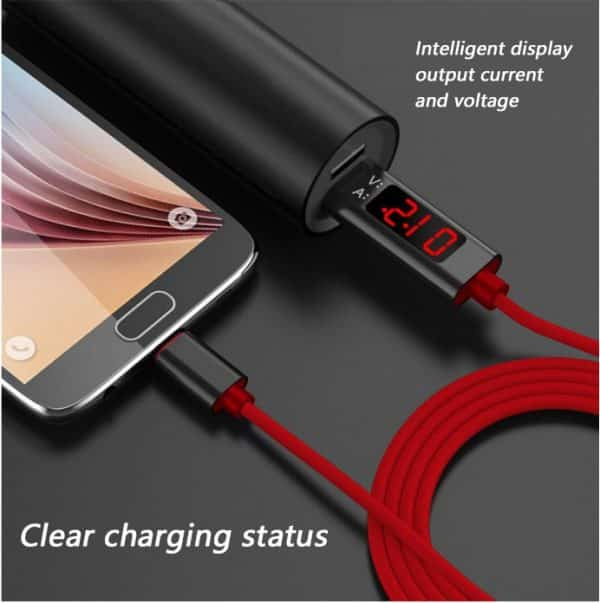 Buy voltage current display usb type c cable