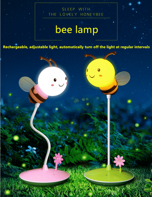 Rechargeable & adjustable LED lamp for kids