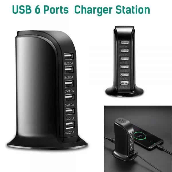 Station de charge portable 6 ports USB Six Ports
