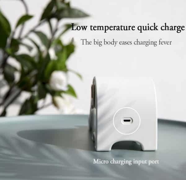 Chargeur rapide sans fil et support téléphone style éléphant Recharge rapide