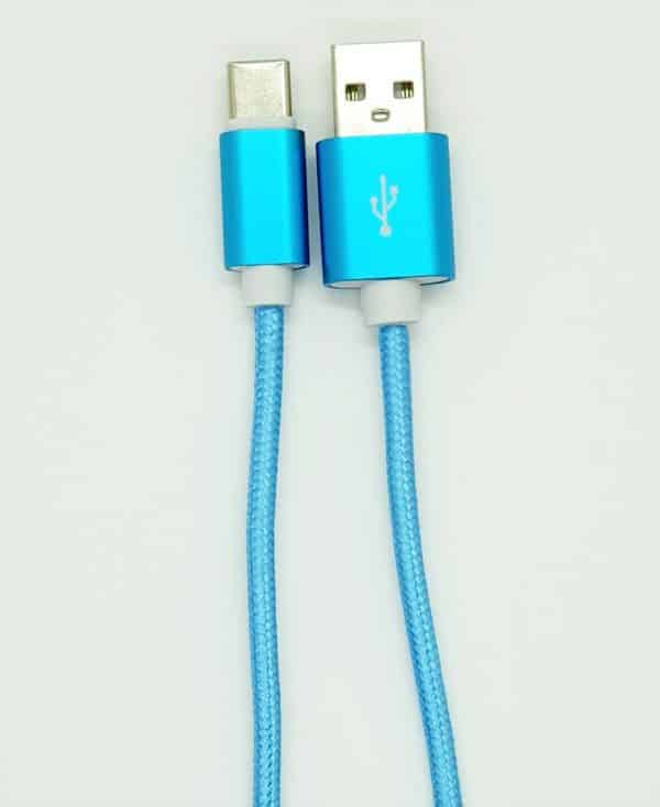 New USB Type C cable Blue