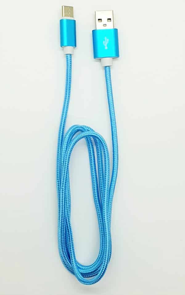 High Quality USB Type C cable Blue