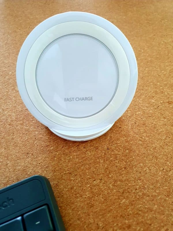 Qi Wireless charger in desk
