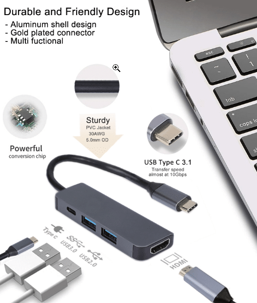 HDMI USB PD Multi Adapter