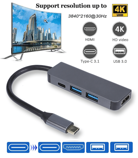 Multi Functional Adapter - HDMI, 2 USB & 1 PD