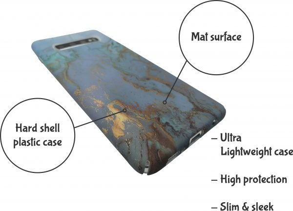 Phone case – Green marbel