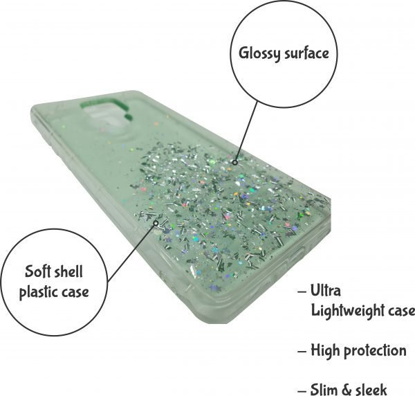 phone case high protection startdust green