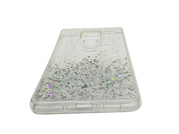 slim white glossy android mobile phone case stardust