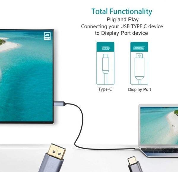 Câble USB Type C vers DisplayPort