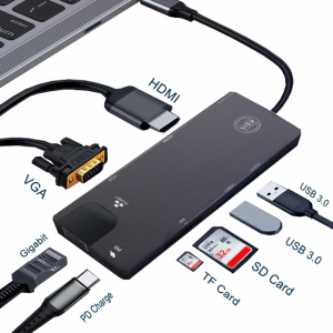 Usb type c hub 8 in 1 Hub