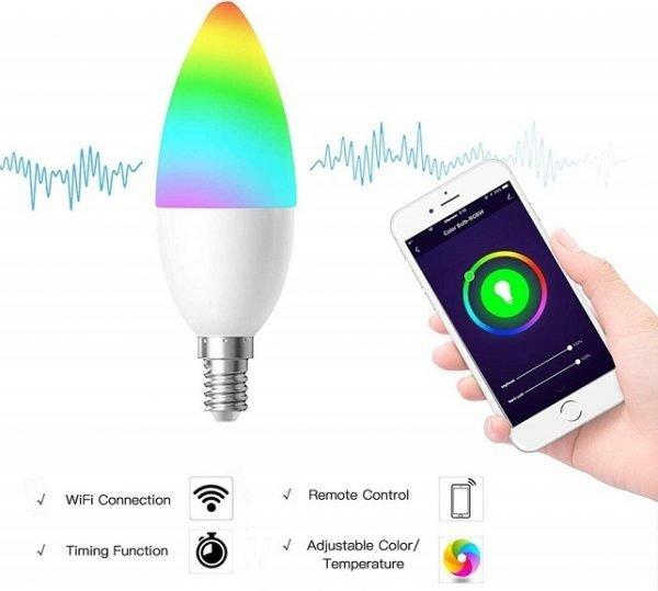 WIFI SMART LED RGBW BULB E14