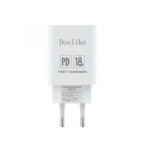 Chargeur rapide PD 18 W derrière