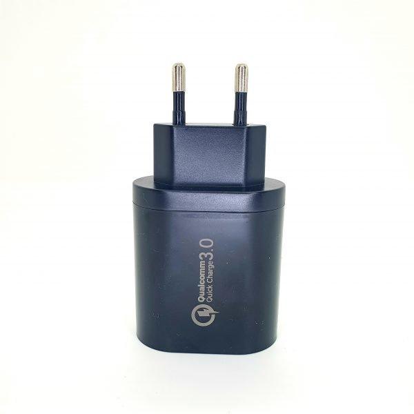 USB charger 3 ports - Black
