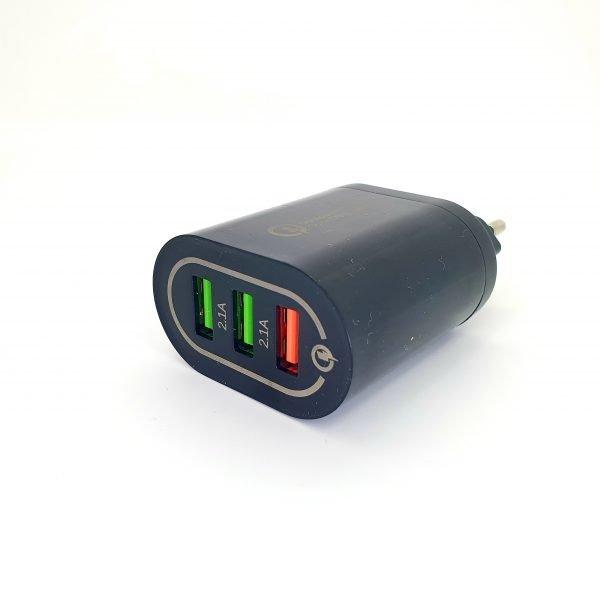 Chargeur USB 3 ports - Noir