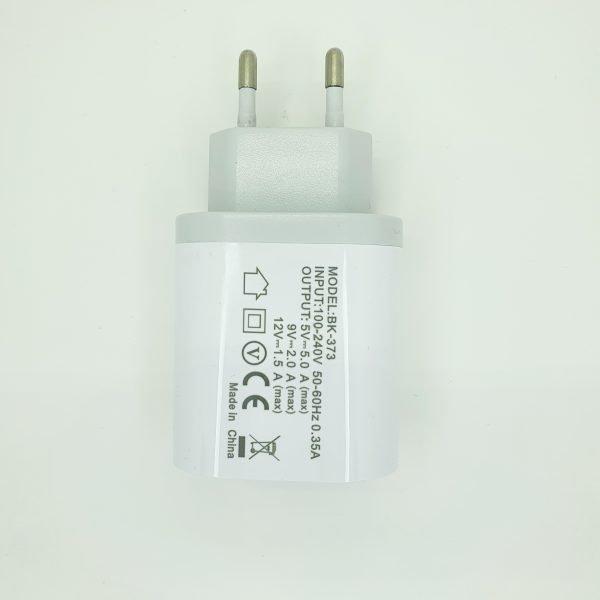 Chargeur USB 3 ports - Blanc