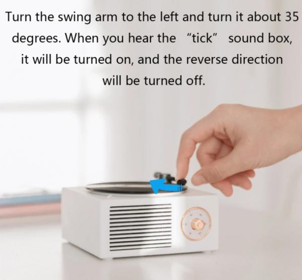 Retro vinyl wireless speaker – 3