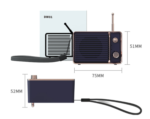 Retro audio wireless speaker – 4