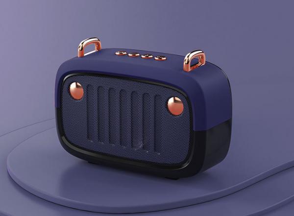 Haut-parleur sans fil rétro vintage blue