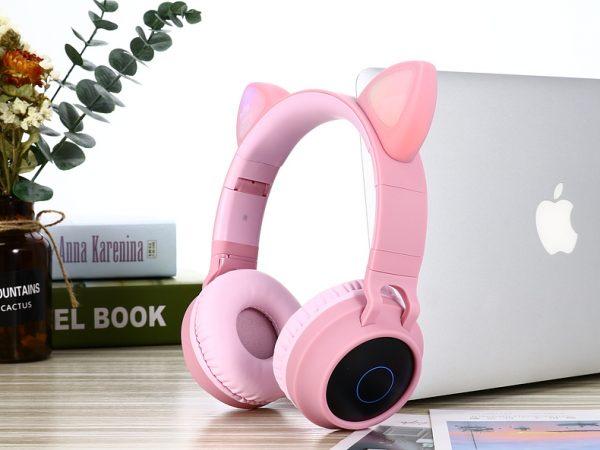 Écouteurs sans fil rose
