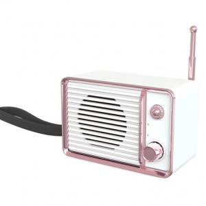 Haut-parleur sans fil audio rétro blanc